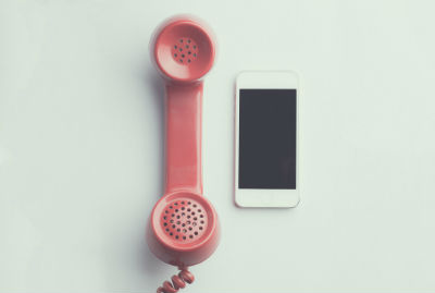 handset and mobile phone, old and new, ISDN and SIP